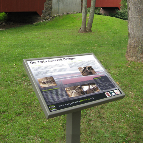 Interpretive Pannier Graphics Durable Outdoor Signs